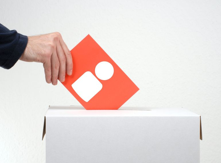 Voting paper showing People Icon and ballot box